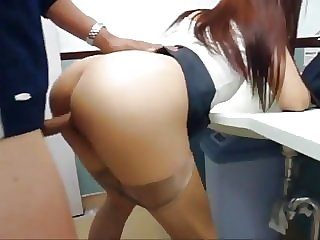 Asian Fucked by Stranger Public Bathroom