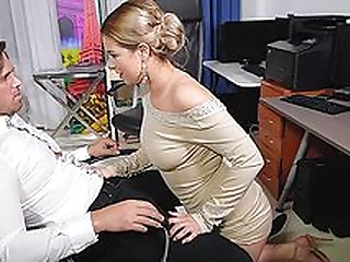 Nikky Dream sucks a stiff on at work