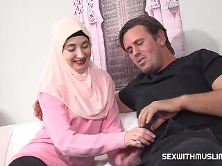 A horny english teacher wants to teach a young muslim girl how to fuck properly