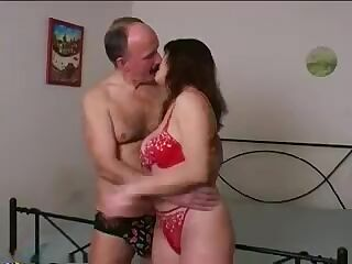 young wife with father in law home alone