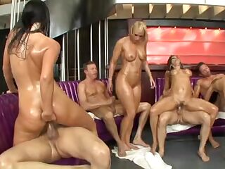 8 Angels, 4 Fellows & Lots Of Baby Oil!